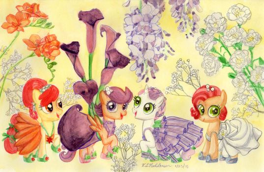 MLP Flowers Of Harmony - Cutie Mark Crusaders by kelseyleah
