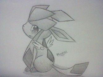 Tiny Winged Glaceon by BluuKiss