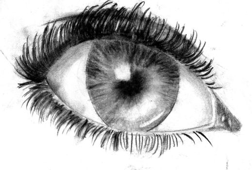 Charcoal eye by InsaneAnon