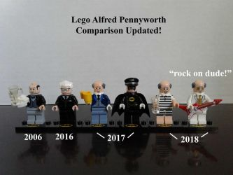 Lego Alfred Pennyworth Comparison updated! by lol20