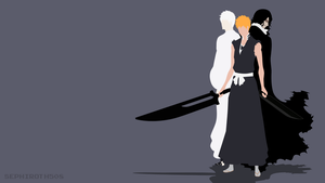 Ichigo and Zangetsu (Bleach) | Minimalist by Sephiroth508