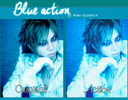 Blue Action by Momo-Gazerock