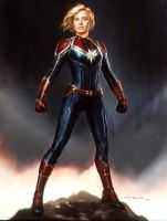 First OFFICIAL Captain Marvel Concept Art by Artlover67