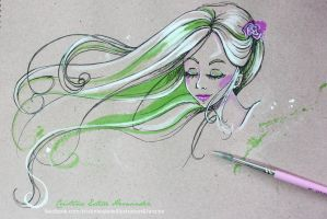 Colour sketch - Whiteandgreen by CrisEsHer