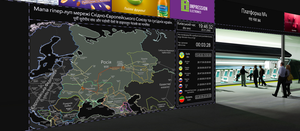 Map of the hyperloop network of the EEU in 2062 by Sera-Fim