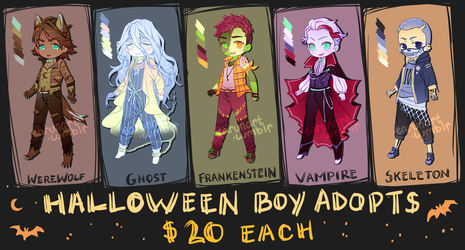 Halloween Boy Adopts OPEN by tarunacoco