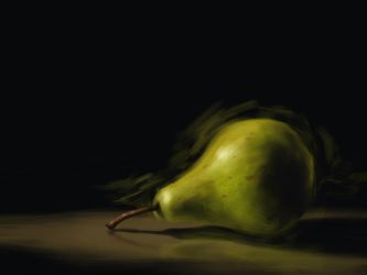 A Lonely Pear by DVLArt