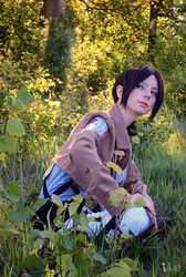 Ymir in the forest by Vivid-Cosplay
