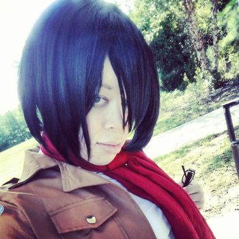 Mikasa Ackerman Cosplay 2 by blackassassins