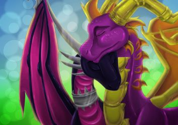 Spyro And Cynder by IneraBelle