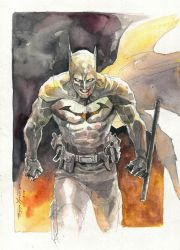 Batman watercolor commission by Hristov13