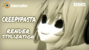 [MMD in Blender] Creepy stylization (Tutorial) by DS-DNA