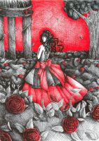 Melancholic Rose Garden by Syndicth