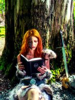 Reading The book of the Dragonborn by exilir-of-life