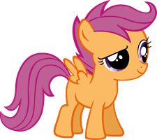 Quizzical Scootaloo by MoongazePonies