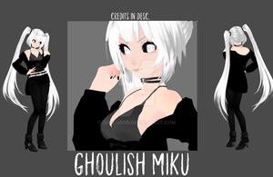 [MMD|NEW MODEL] Ghoulish Miku by o0Glub0o