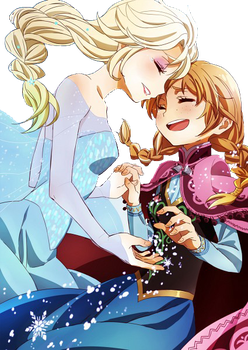Frozen Elsa and Anna Render by Natsi90