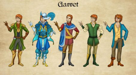 Garret Outfits by Captain-Savvy