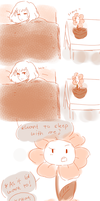 Flowey just wants to feel Frisk's warmth by kiacii-official