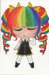 Chibi Cute Collection Character: Rainbow by Ijiserure