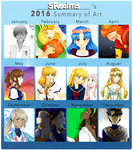 SRealms's 2016 Summary of Art!! by SRealms