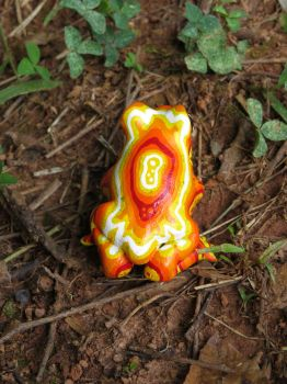 Psychedelic Yellow Treefrog by ART-fromthe-HEART