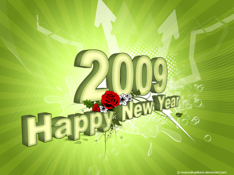 Happy New Year - 2009 by mukundnadkarni