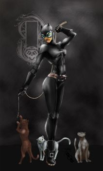 Catwoman in D Minor by PIXEL-Of-DOOM