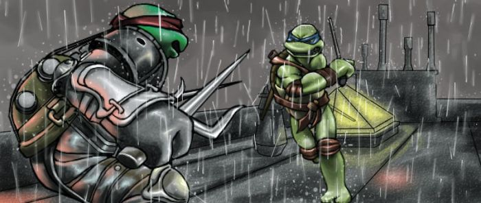 TMNT-In the rain by tmask01