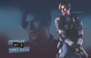 Leon S. Kennedy Memories of a Lost City Wallpaper by BriellaLove