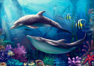 Dolphins by Araniart