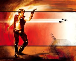 solo... han solo by artist Tom Kelly by TomKellyART