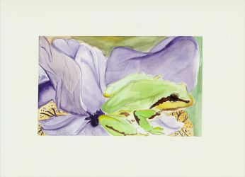 Watercolor - Frog by sle86