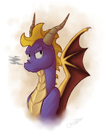 Spyro Bust by LogicalLoony
