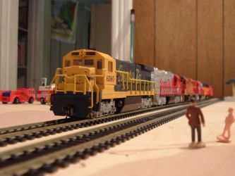 Woodstock and Southern B23-7 #6380 by Tracksidegorilla1