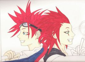 another reno and axel preveiw by cagedshadows