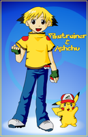 Ashchu and Pikatrainer by kolidescope