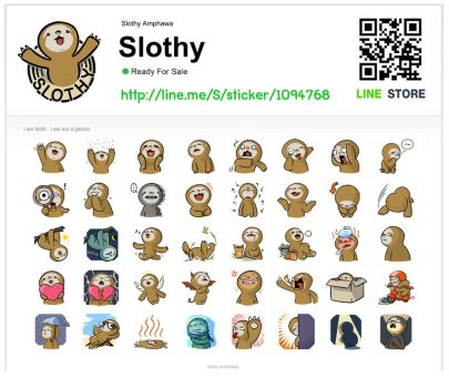 [LINE Stickers] Slothy by SlothyAmphawa