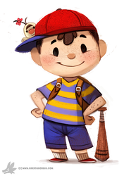 Daily Painting 765. Ness, for muh friend by Cryptid-Creations