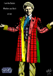 The Sixth Doctor - colour by The-13th-Doctor