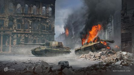 PzkpfwVI_ausfB_tigerH vs Is2_1944 by O-l-i-v-i