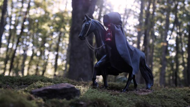 Death Rides a Black Tennessee Walker by Ayedeas