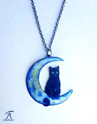 Luna Kitty Necklace by TrollGirl