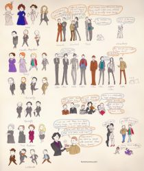 Sherlock Holmes sketches by humon