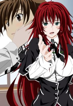 Issei Hyoudou and Rias Gremory by Maximilian-Destroyer