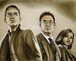 'The Dynamic Trio' from Person of Interest by Schnellart