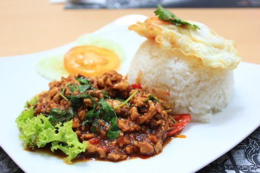Spicy Thai Chicken rice by Momo-Zhao