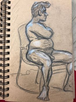 Life Drawing 4-17-18 6 by NWolfman