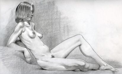 reclining nude study by Estranged74