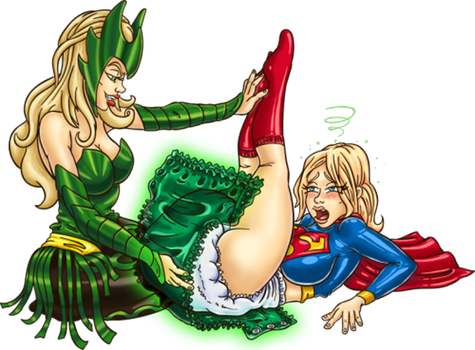 Supergirl is diapered by Enchantress2 by Jamjarmon by megabluex